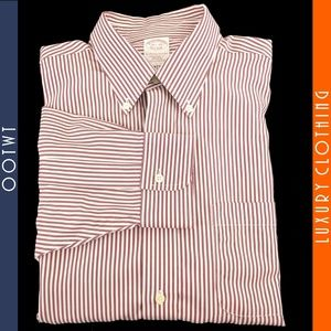 BROOKS BROTHERS 16.5 34 Traditional Striped Shirt